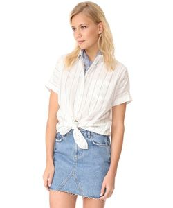 Madewell | Рубашка С Короткими Рукавами И Завязками Спереди