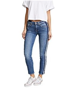 7 for all mankind | Roxanne Ankle Jeans With Reverse Fray Tux