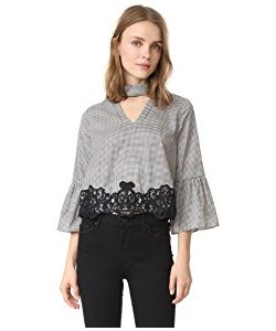Moon River | Houndstooth Lace Belle Blouse