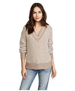 Brochu Walker | Jenssen Striped V Neck Sweater