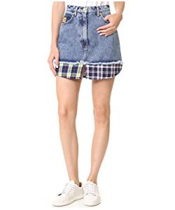 Natasha Zinko | Denim Combo Mini Skirt