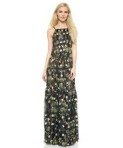 Vera Wang Collection   Многослойное Плиссированное Вечернее Платье С Манишкой