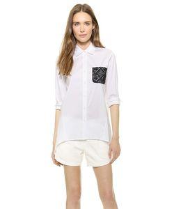 Tess Giberson | Рубашка Со Связанным Крючком Карманом