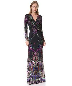 Roberto Cavalli | Вечернее Платье С Длинными Рукавами