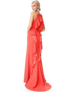 Lela Rose | Вечернее Платье С Оборками