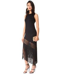 Haute Hippie | Асимметричное Платье Без Рукавов С Бахромой