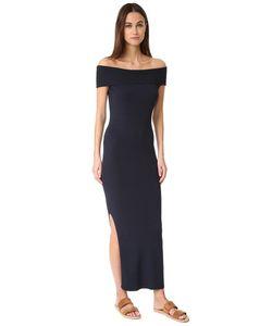 525 America | Макси-Платье С Открытыми Плечами И Рубчиком