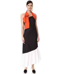 Isa Arfen | Платье С Американской Проймой И Узлом