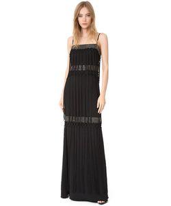 Badgley Mischka | Многоярусное Вечернее Платье С Бахромой
