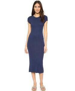 Enza Costa | Платье С Короткими Рукавами Из Ткани В Рубчик