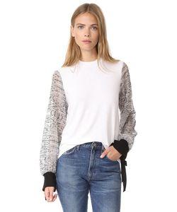 Clu | Пуловер С Вышитыми Рукавами
