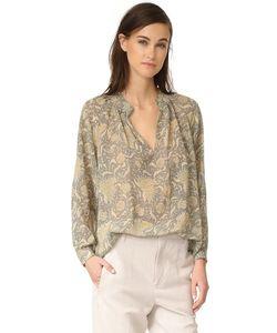 Vince | Винтажная Блуза С Цветочным Принтом И Складками На Вырезе