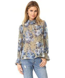 Robert Rodriguez | Блуза С Изображением Букета Цветов С Оборчатым Воротником