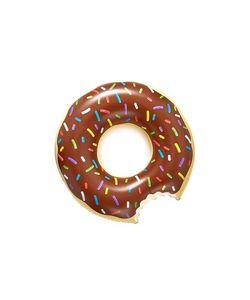 Gift Boutique   Большой Надувной Матрас В Виде Пончика С Шоколадной Начинкой