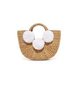 Jadetribe | Basket Mini Pom Pom Bag