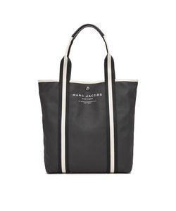 Marc Jacobs | Объемная Ручка Для Покупок С Короткими Ручками Из Холщовой Ткани