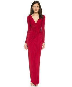 Donna Karan New York | Платье С Узлом И Глубоким V-Образным Вырезом