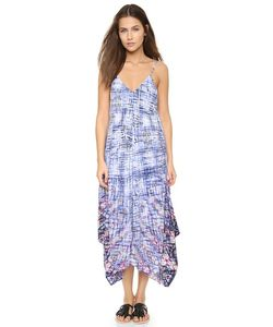 Charlie Jade | Шелковое Платье С Комбинированным Волнообразным Рисунком