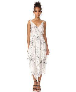 Diane Von Furstenberg | Миди-Платье New Без Рукавов С Остроугольным Подолом