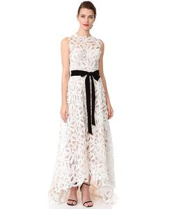 Monique Lhuillier | Асимметричное Вечернее Платье Без Рукавов
