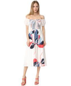 TANYA TAYLOR | Платье Zanna С Лентами И Цветочным Рисунком