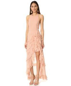 Alice + Olivia | Асимметричное Вечернее Платье Carma С Оборками