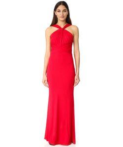 Badgley Mischka | Вечернее Платье С Высокой Горловиной