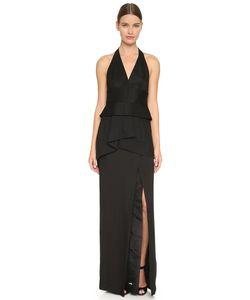 Donna Karan New York | Вечернее Платье Без Рукавов С Глубоким V-Образным Вырезом С Завязками Уздечкой