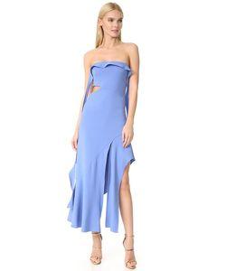 Jonathan Simkhai   Коктейльное Эластичное Вечернее Платье Без Бретелек