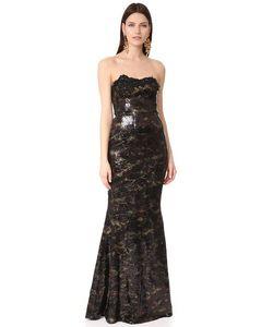 Marchesa Notte | Эластичное Вечернее Платье С Принтом И Блестками