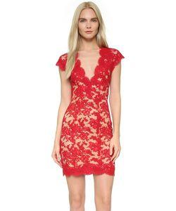 Reem Acra   Кружевное Коктейльное Платье