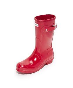 Hunter Boots | Оригинальные Короткие Блестящие Сапоги
