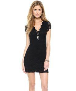 Nightcap x Carisa Rene | Платье С Короткими Рукавами И Глубоким V-Образным Вырезом
