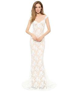 Reem Acra   Кружевное Вечернее Платье С Глубоким Вырезом На Спине