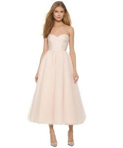 Monique Lhuillier | Платье Ниже Колен Sloane Без Бретелек