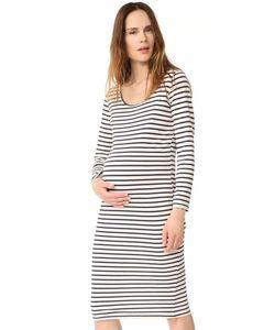Monrow   Платье Для Беременных В Полоску С Длинными Рукавами