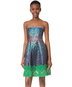 Cynthia Rowley | Платье Без Бретелек Peacock Из Жаккарда
