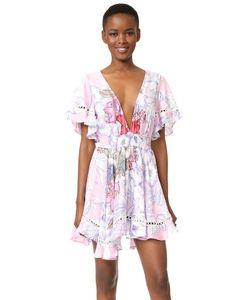 Minkpink | Платье С Рукавами-Крылышками И Тропическим Принтом