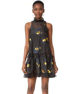 Cynthia Rowley | Вечернее Платье С Металлизированным Цветочным Рисунком