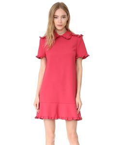 Red Valentino | Платье С Короткими Рукавами И Воротником