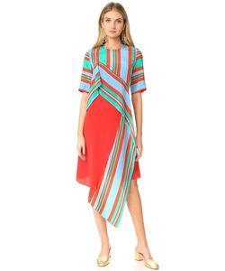 Diane Von Furstenberg | Платье С Короткими Рукавами И Оборками Спереди