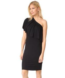 Three Dots | Платье С Открытым Плечом И Оборками