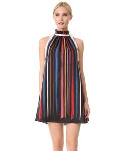 ADAM SELMAN | Шелковое Платье-Трапеция