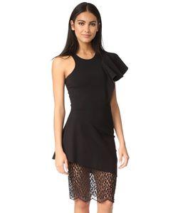Michelle Mason | Платье С Оборками Кружевом И Спиной-Борцовкой