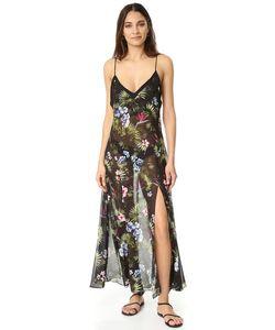 Fleur du Mal | Платье-Комбинация С Тропическим Принтом