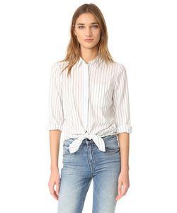 Madewell | Завязанная Спереди Рубашка С Длинными Рукавами