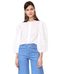 ANNA OCTOBER | Блуза С Перфорированной Отделкой