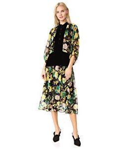 Warm | Primrose Burnout Velvet Dress