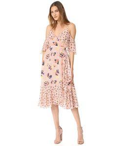 TANYA TAYLOR | Платье Amylia Из Текстурированного Шелка С Абстрактным Цветочным Принтом