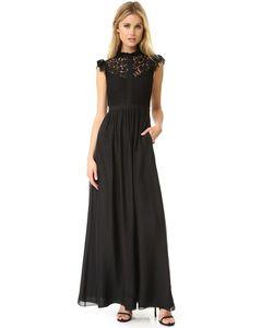 Rachel Zoe | Вечернее Платье С Кружевными Вставками